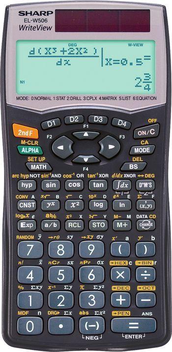 Sharp El W506 Scientific Calculator Sharp Electronic