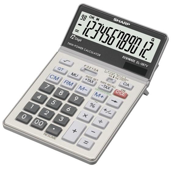 SHARP EL-387 Large Display kick stand Calculator