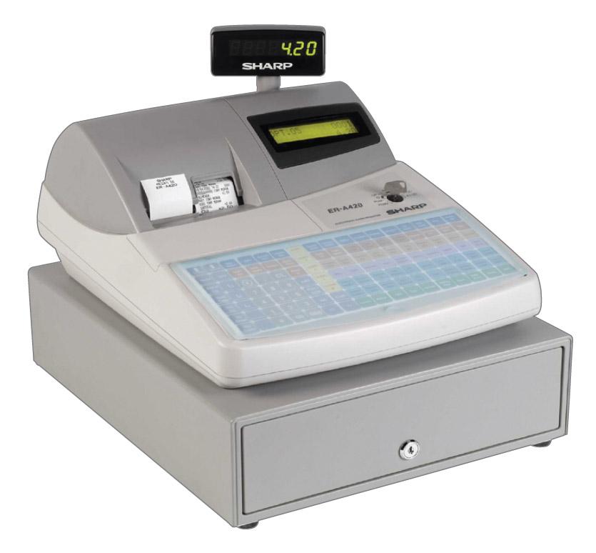 sharp electronic cash register. sharp er-a420 pos cash register sharp electronic