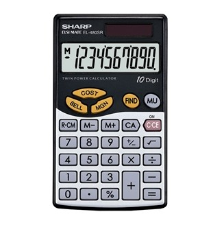 sharp el 480 with quick cost selling price and margin calculator
